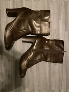 Vintage 90's Y2k Mudd Ardent Chunky Mid Calf Ankle Boots Size 9