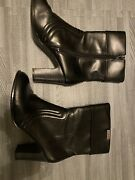 Vintage 90's Y2k Mudd Ardent Chunky Mid Calf Ankle Boots Size 8.5