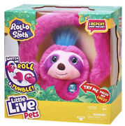 Little Live Pets Rollo The Sloth Interactive Plush Toy New Talking Pink