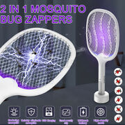 Usb Rechargeable Electric Mosquito Killer Handheld Bug Zapper Racket Fly Swatter