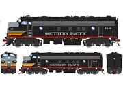Ho-gauge - Athearn - Southern Pacific Fp7a Passenger 6448 Black Widow W/sound