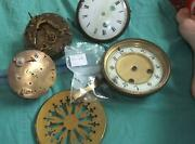 Antique French Clock Movements And Clock Face Spairs