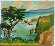 Amazing Modern Impressionist Colorful Landscape Oil Painting Winstead 1974