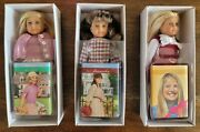 American Girl Collection Samantha Kit And Julie 6.5andrdquo Mini Dolls New