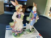 Fitz And Floyd Classics Old World Male And Female Rabbit