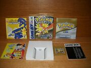 Pokemon Gold Version Game Boy Color, 2000 - Complete In Box - Needs Battery