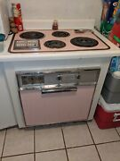 Vintage Pink Ge Stove And Cook Top