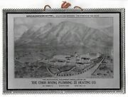 Antique Tin Sign Colorado Springs Broadmoor Hotel - Irving Plumbing And Heating
