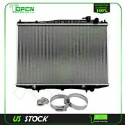 Radiator For 00-04 Nissan Frontier Xterra With 4pcs Universal Clamps