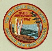 Vintage Boy Scout Patch-ten Mile River Scout Camps 40th 1967 Greater Ny Council