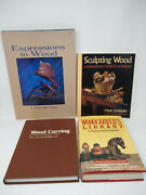 Lot 4 Wood Carving Books Sculpting Decorative Projects Figurines Faces
