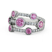 2.00 Ct Pink Sapphire And Diamond 950 Platinum Pleasing Engagement Ring Size 7 8 9