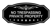 Victorian No Trespassing Private Property Sign