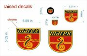 Marex Boat Emblem 55x59 Gold + Free Fast Delivery Dhl Express - Raised Decal