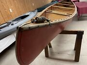 Vintage Richardson Aquacraft Camper 63 Ab 16and039 Canoe Wooden Canoe Collectible