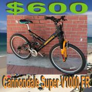 Cannondale 1998 Approx Super V1000 Fr Free Ride 26 Wheel Mountain Bike