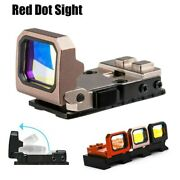Tactical Flip Up Dot Sight Holographic Reflex Scope Foldable Red Dot Sight Rmr