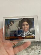 Carrie Fisher Signed Star Wars Princess Leia Topps Autographed