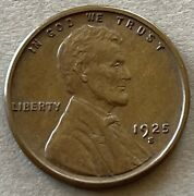 1925 S Lincoln Cent Wheat Penny 1027