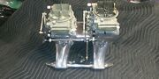 Mopar 440 Weiand Polished Tunnel Ram, Holley 660 Center Squirters And Linkage