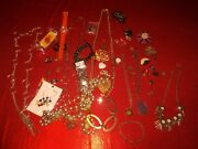 Vintage Costume Jewelry Lot Necklaces Watches Old Collectible Watch Junk Lots