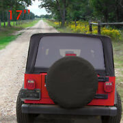 Spare Tire Cover Fit For Jeep Wrangler 17 Size Xl Wheel Tire Cover Pure Black
