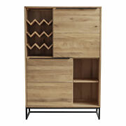 Moe's Home Nevada Bar Cabinet With Brown Finish Ur-1002-03