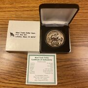 1994 Hawaii Maui 1 Trade Dollar 1oz Silver Proof Dolphin And Orchids - Rare