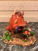 Figurine Med Lion King Timon And Pumbaa Paris New With Box Disney