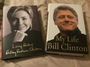 Living History By Hillary Rodham And My Life By Bill Clinton Hardcovers