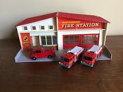 Lesney Matchbox Mf-1 Fire Station Lot With 3 Vehicles