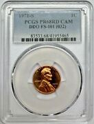 1971 S Lincoln Proof Penny Pcgs Pr68 Rd Cam Ddo Fs-101 Variety Registry Coin 1c