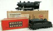 Lionel No 1615 0-4-0 Switcher Steam Locomotive And 1615t Coal Tender Boxed Trains