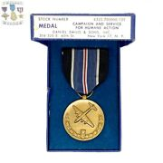 Berlin Airlift Medal Campaign And Service For Hunane Action Slot/crimp Brooch Box