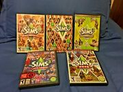 5 Games The Sims 3 Pc Mac Lot With 4 Expansion Packs Guides Cases Used Dvds Vg