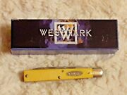 Vintage Westmark Doctor Knife Wm04 Yellow Saw Cut Delrin Handles New In Box