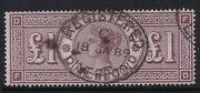 Gb Sg186 1888 Andpound1 Brown-lilac Wmk Orbs - Very Fine Used With Registered Cds
