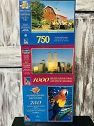 New Sure-lox Jigsaw Puzzles, Lot Of 3 1000 Pc, 750 Pc, 750 Pc
