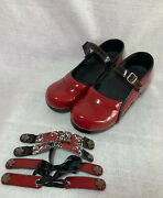 Koi By Sanita Size 38 Red Danish Clogs With Changeable Straps