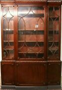 Kittinger Colonial Williamsburg Chippendale Mahogany Breakfront Bookcase Cw-38