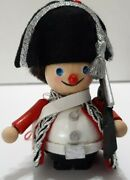 Steinbach Christmas Ornament Napoleon French Soldier Gun Silver Trim With Tag