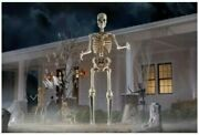 12 Foot Ft Tall Giant Skeleton W/ Animated Lcd Eyes Halloween Prop New