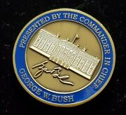 Rare Presented By The Commander In Chief 43rd Potus President George W Bush