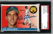 Al Kaline Sgc Auth Signed 1955 Topps Card Tigers Autograph