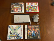 Nintendo 3ds Xl The Year Of Luigi Edition. With Charger And 4 Games - Works Great