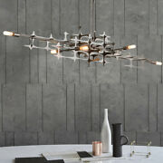 Postmodern Silver Luxury Led Chandelier For Dining Room Living Room Dining Room