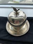 Sterling Silver Apple Box With Small Plate