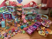 Vintage Littlest Pet Shop Lps Huge Lot Of Animals Habitats And access. See Pic