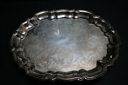 Leonard Silver Co. Silverplate Footed Rectangular Tray 14 1/2 X 11