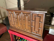 Vintage Stereo Radio Turntable Console Zenith Wood